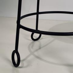 Design Fr res Pair of Chic Wrought Iron and Boucle Counter Stools - 1667161