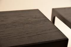 Design Fr res Pair of Ebonized Grooved Oak Esquisse Side Tables by Design Fr res - 1062047