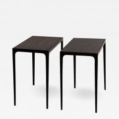Design Fr res Pair of Ebonized Grooved Oak Esquisse Side Tables by Design Fr res - 1062208