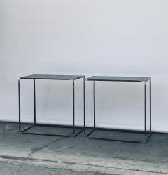 Design Fr res Pair of Filiforme Patinated Steel Minimalist Side Tables by Design Fr res - 1411449