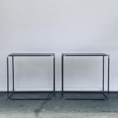 Design Fr res Pair of Filiforme Patinated Steel Minimalist Side Tables by Design Fr res - 1411450
