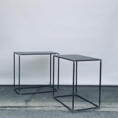 Design Fr res Pair of Filiforme Patinated Steel Minimalist Side Tables by Design Fr res - 1411451