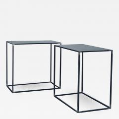 Design Fr res Pair of Filiforme Patinated Steel Minimalist Side Tables by Design Fr res - 1412274