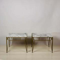 Design Fr res Pair of Large Angulaire Marble Side Tables - 1638986
