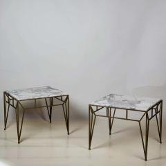 Design Fr res Pair of Large Angulaire Marble Side Tables - 1638987
