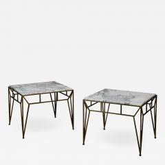 Design Fr res Pair of Large Angulaire Marble Side Tables - 1639295