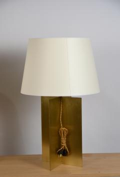 Design Fr res Pair of Large Custom Polished Brass Croisillon Lamps by Design Fr res - 1141349