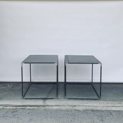 Design Fr res Pair of Large Minimalist Filiforme Patinated Steel End Tables by Design Fr res - 1411429