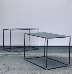 Design Fr res Pair of Large Minimalist Filiforme Patinated Steel End Tables by Design Fr res - 1411431