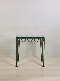 Design Fr res Pair of M andre Verdigris and Glass Night Stands by Design Fr res - 1732223