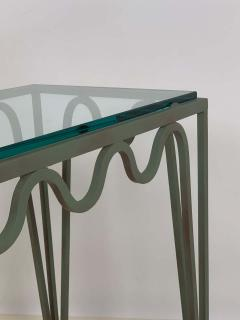 Design Fr res Pair of M andre Verdigris and Glass Night Stands by Design Fr res - 1732224