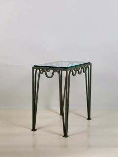 Design Fr res Pair of M andre Verdigris and Glass Night Stands by Design Fr res - 1732226