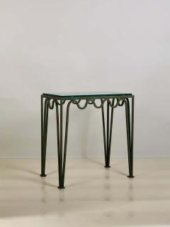 Design Fr res Pair of M andre Verdigris and Glass Night Stands by Design Fr res - 1732227