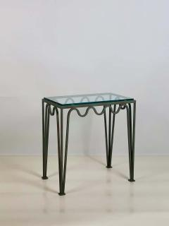 Design Fr res Pair of M andre Verdigris and Glass Night Stands by Design Fr res - 1732228