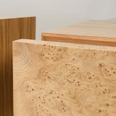 Design Fr res Pair of Minimalist Amboine Burl Wood Nightstands by Design Fr res - 1541968