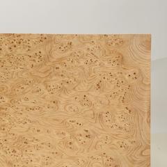 Design Fr res Pair of Minimalist Amboine Burl Wood Nightstands by Design Fr res - 1541971