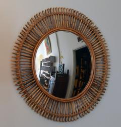 Design Fr res Pair of Oculus Round Rattan Convex Mirrors - 1062103