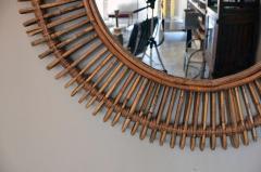 Design Fr res Pair of Oculus Round Rattan Convex Mirrors - 1062104