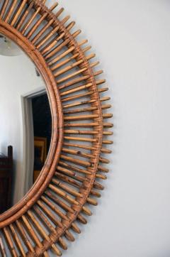 Design Fr res Pair of Oculus Round Rattan Convex Mirrors - 1062105