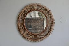 Design Fr res Pair of Oculus Round Rattan Mirrors - 1062087