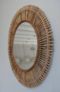 Design Fr res Pair of Oculus Round Rattan Mirrors - 1062088