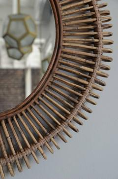 Design Fr res Pair of Oculus Round Rattan Mirrors - 1062090