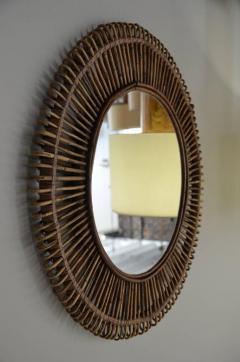 Design Fr res Pair of Oculus Round Rattan Mirrors - 1062092