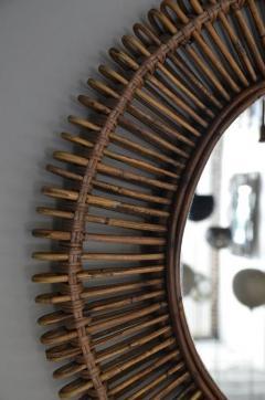 Design Fr res Pair of Oculus Round Rattan Mirrors - 1062093