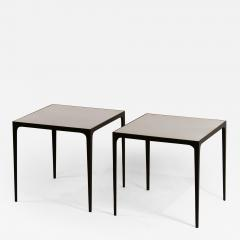 Design Fr res Pair of large Esquisse Wrought Iron and Parchment Side Tables by Design Fr res - 1037337