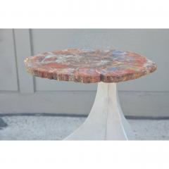 Design Fr res Seve Petrified Wood and Aluminium Side Table by Design Fr res - 1079050