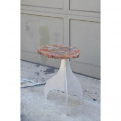 Design Fr res Seve Petrified Wood and Aluminium Side Table by Design Fr res - 1079051