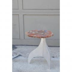 Design Fr res Seve Petrified Wood and Aluminium Side Table by Design Fr res - 1079055
