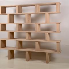 Design Fr res Six Shelves Verticale Polished Oak Shelving Unit - 1550596