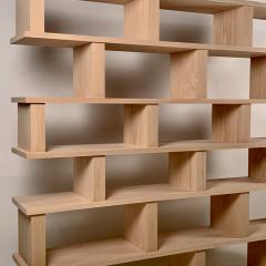 Design Fr res Six Shelves Verticale Polished Oak Shelving Unit - 1550600