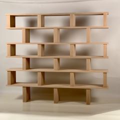 Design Fr res Six Shelves Verticale Polished Oak Shelving Unit - 1550601