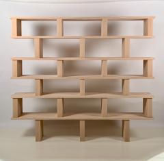 Design Fr res Six Shelves Verticale Polished Oak Shelving Unit - 1550602