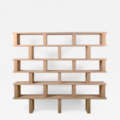 Design Fr res Six Shelves Verticale Polished Oak Shelving Unit - 1552712