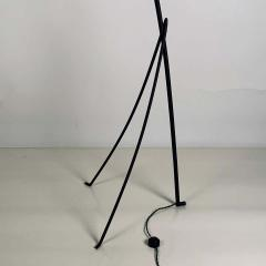 Design Fr res Slender Wrought Iron and Rattan Floor Lamp - 1667523