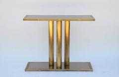 Design Fr res The Calandre Narrow Brass Mirrored Console - 719890