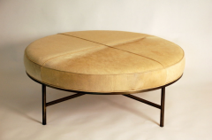 Design Fr res The Tambour Natural Hide and Brass Ottoman - 719778