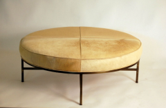 Design Fr res The Tambour Natural Hide and Brass Ottoman - 719780