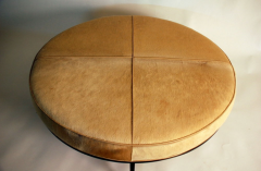 Design Fr res The Tambour Natural Hide and Brass Ottoman - 719781