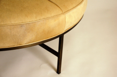 Design Fr res The Tambour Natural Hide and Brass Ottoman - 719782
