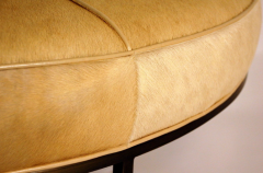 Design Fr res The Tambour Natural Hide and Brass Ottoman - 719783
