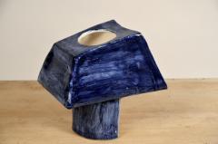 Design Fr res Trap ze Sculptural French Studio Ceramic Lamp - 1087214