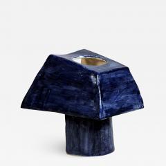 Design Fr res Trap ze Sculptural French Studio Ceramic Lamp - 1088035