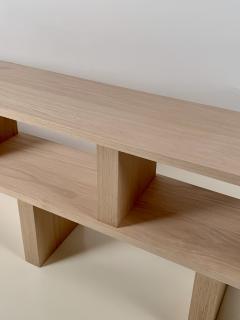 Design Fr res Two Shelves Verticale Polished Oak Shelving Unit - 1542457