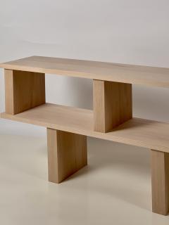 Design Fr res Two Shelves Verticale Polished Oak Shelving Unit - 1542459