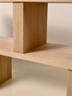 Design Fr res Two Shelves Verticale Polished Oak Shelving Unit - 1542460