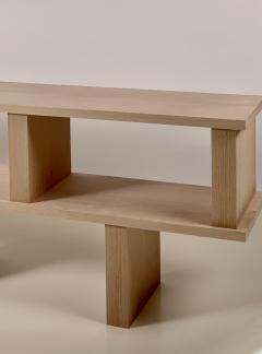 Design Fr res Two Shelves Verticale Polished Oak Shelving Unit - 1542464